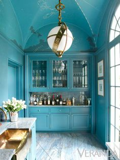 Zebra Rug Entryway Designer Miles Redd - Danielle Rollins Atlanta House - Veranda