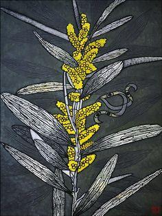 pod and pod gallery Julie Hickson Botanical Drawings, Botanical Art, Botanical Illustration, Australian Native Flowers, Australian Artists, Linocut Prints, Art Prints, Flower Quilts, Stencil Painting