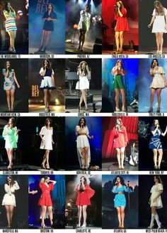 Lana Del Rey + The Endless Summer Tour 2015 outfits #LDR #fashion