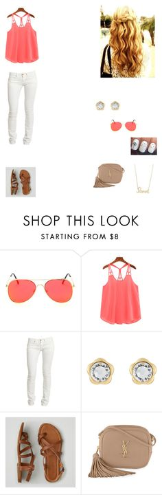 """""""Untitled #236"""" by tangeled10 ❤ liked on Polyvore featuring Replay, Marc Jacobs, American Eagle Outfitters, Yves Saint Laurent and Sydney Evan"""