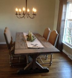 Dining room tables farmhouse style with antique dining chandelier | Decolover.net