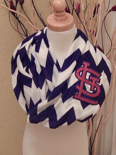 Must have this!!! Sparkly STL Cardinals Navy Chevron Infinity Scarf St by BumpsnRoo, $20.00