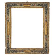 18th Century Venetian Gilt Carved and Polychrome Frame 1