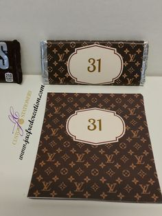 5b8edd2d24d1 Louis Vuitton · Chocolate wrappers inspired by designer brands Fits 1.55  Hershey chocolate bar Need them personalized  Choose