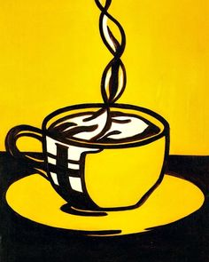 still life quick heart — Roy Lichtenstein Cup of Coffee 1961