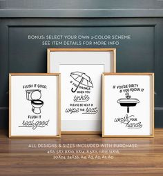 Funny bathroom art PRINTABLE art Bathroom wall decor If you