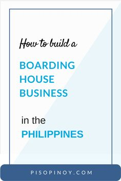It's easy for boarding house business to thrive and get tenants. Here's a complete guide on how to build a boarding house business in the Philippines. Business Planning, Business Ideas, Boarding House, Planer, House Plans, Investing, House Design, How To Plan, Building