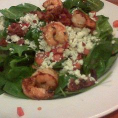 Spinach Salad With Shrimp @ Hooters