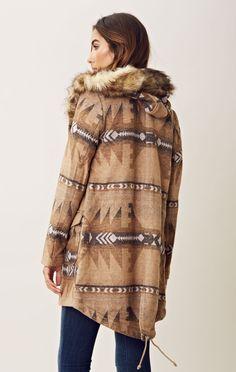 BB Dakota Davina Fur Trim Coat