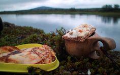 Gourmet menu in the wilderness of Swedish Lapland