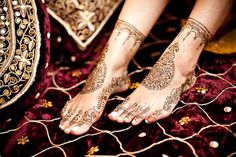 Loving the henna even if it is on her feet!!!