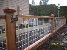 """Hog panel"" fence 