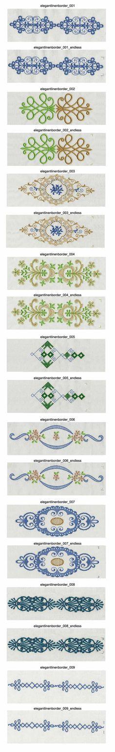 Elegant Linen Borders Embroidery Machine Design Details