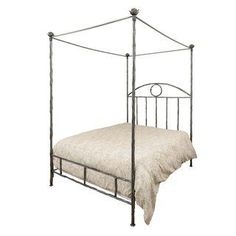 Romantic Framed Metal Canopy Queen Bed