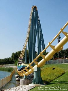 Steel Eel (SeaWorld San Antonio) I road this 5 times last time I went to San Antonio! Absolutely love this coaster!