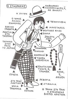 the elements of crime Greek gangster fashion: twirly moustache, beauty marks, cuffed plaid pants, prayer beads, knife. Greece the elements of cr. Greek Blue, Greek Art, Greece Drawing, Greece Pictures, Greek Design, Greek Culture, Shadow Puppets, Creative Illustration, In Ancient Times