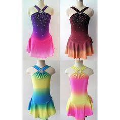 Custom Figure Skating Competition Dress -- 'Lola' ($84) ❤ liked on Polyvore