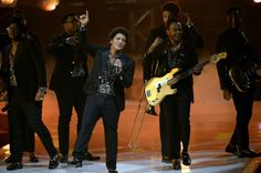 Bruno Mars performs onstage during the final of Germany's Next Top Model.