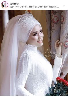 You can find different rumors about the annals of the wedding dress; tesettür First Narration; Hijabi Wedding, Muslimah Wedding Dress, Muslim Wedding Dresses, Girls Formal Dresses, Flower Girl Dresses, African Wedding Attire, Wedding Veils, Bridal Outfits, Marie
