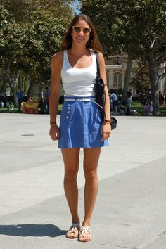 I think the skirt is cute although I am more in the mood for fall clothing.