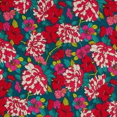 Liberty Lifestyle Bloomsbury Gardens - Magenta Teal Collection