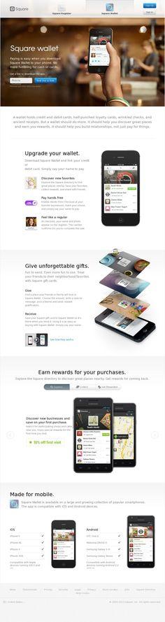 The website 'https://squareup.com/wallet' courtesy of @Pinstamatic (http://pinstamatic.com)
