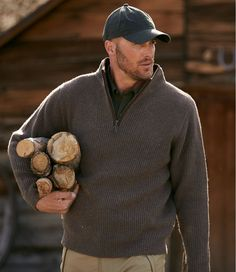 Find the best Men's Waterfowl Sweater with Windstopper, Windproof at L. Our high quality Men's Sweaters are thoughtfully designed and built to last season after season. Lumberjack Men, Bald Men With Beards, Mens Hairstyles With Beard, Outdoor Men, Outdoor Travel, Rugged Men, Moda Casual, Country Men, Mens Fall