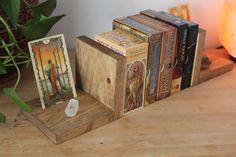Wicca, Pagan, Diy Tarot Cards, Wooden Books, Altar Cloth, Deck Box, Tarot Card Meanings, Altar Decorations, Card Storage