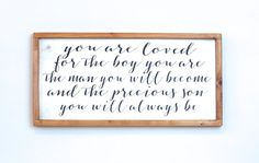 Boy Room Decor You Are Loved Son Nursery Decor by vinylcrafts