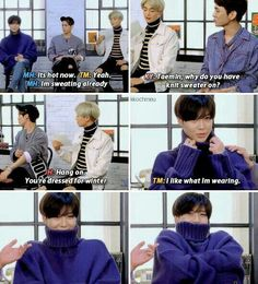 When fashion is more important than comfort. Taemin is so cute