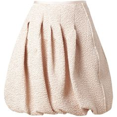 NINA RICCI Crinkled lam? bubble skirt ($1,515) ❤ liked on Polyvore