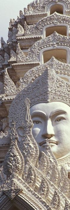 Wat Ratchapradt, Buddha Image on ornate stone temple, Bangkok, Thailand