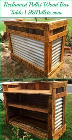 DIY Reclaimed Pallet Wood #Bar Table | 99 Pallets - #palletprojects