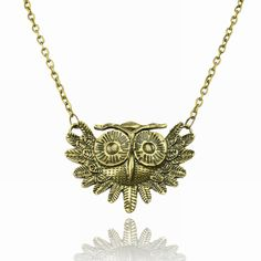 "Bronze Metal OWL Necklace w/ 18"" Chain ~NEW~"