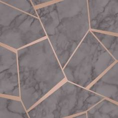 Fractal Geometric Marble Wallpaper Charcoal Grey and Copper - Fine Decor Geometric Wallpaper Room, Rose Gold Marble Wallpaper, Marble Effect Wallpaper, Gold Wallpaper Background, Unique Wallpaper, Grey Wallpaper, Pattern Wallpaper, Wallpaper Backgrounds, Iphone Wallpapers