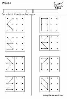 A faire sur les geoboard Visual Perception Activities, Visual Motor Activities, Maternelle Grande Section, Vision Therapy, Montessori Math, Pre Writing, Math For Kids, Kindergarten Worksheets, Kids Education