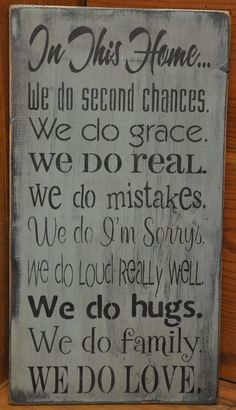 Primitive Rustic Western Country In This Home Shab Wood Sign Shelf Sitter. - Love Home Decor Great Quotes, Quotes To Live By, Inspirational Quotes, Awesome Quotes, Motivational, Western Decor, Country Decor, Country Living, Country Signs