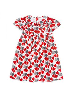 Red Hearts Dress - GIRL - Products : Fawn Shoppe