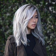 Silver Long Bob Hair
