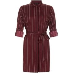New Look Petite Red Stripe Shirt Dress (31 AUD) ❤ liked on Polyvore featuring dresses, red pattern, striped shirt dress, stripe shirt dress, striped t-shirt dresses, petite shirt dress and pattern dress