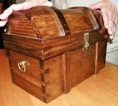 Pirate Treasure Chest Medium Size All Wood Handcrafted | eBay. $75.00