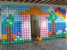 Tela Plastica (mágica) P/decoração C/ Balões Substitui O Pds - R ...