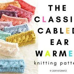 KNITTING PATTERN Knit Earwarmer Headband The Sèk | Etsy Cable Knitting, Hand Knitting, Knitting Patterns, Crochet Patterns, Knit Headband Pattern, Knitted Headband, Velvet Acorn, Fur Pom Pom Hat, Baby Beanie Hats