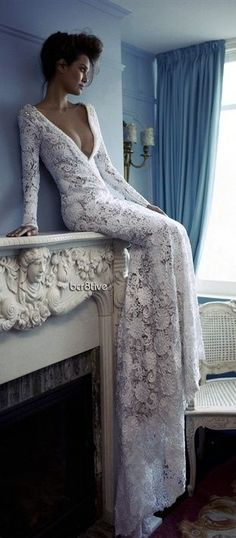 Lace adornment! This is stunningly gorgeous. #CDdress #weddingdress