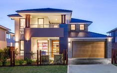 Glenleigh 39 - Double Level - by Kurmond Homes - New Home Builders Sydney NSW Double Storey House Plans, Double Story House, Home Design, Modern House Design, Bedroom House Plans, House Floor Plans, Style At Home, Custom Home Builders, Custom Homes