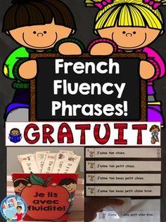 Such a fun, engaging way to practice reading fluency in French! Parfait pour le cahier interactif, les ateliers ou la pratique autonome:)