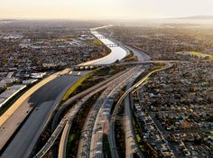 """""""Once the city's main water source, the Los Angeles River is now a concrete channel fed by storm drains. City residents rely on water piped in from hundreds of miles away."""""""