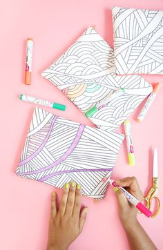 Make a unique pencil case that you can *COLOR* when you get stressed.