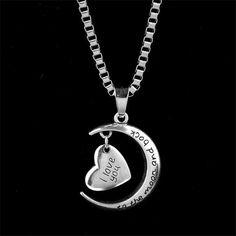 Christmas Gift 2016 New I love You to the Moon and Back Necklace [100610] - $17.99 : jewelsin.com