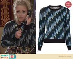 Carrie's lightning bolt / zig zag sweater on The Carrie Diaries. Outfit Details: http://wornontv.net/24702 #TheCarrieDiaries #fashion #Kenzo